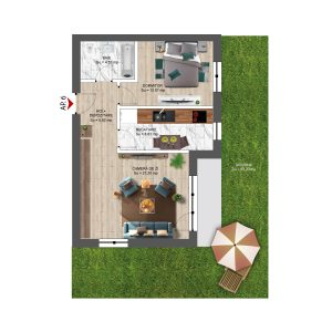 2 CAMERE CU GRĂDINĂ /2 room apartment in Boreal Plus - North Constanta