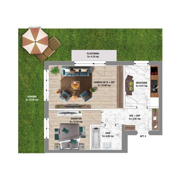2 room apartment in Constanta - Boreal Plus