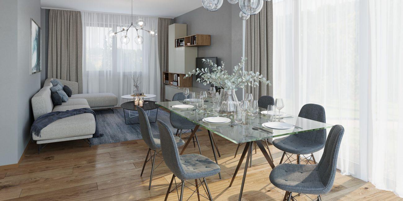 Living Room - Vilă premium Boreal Plus Constanța.