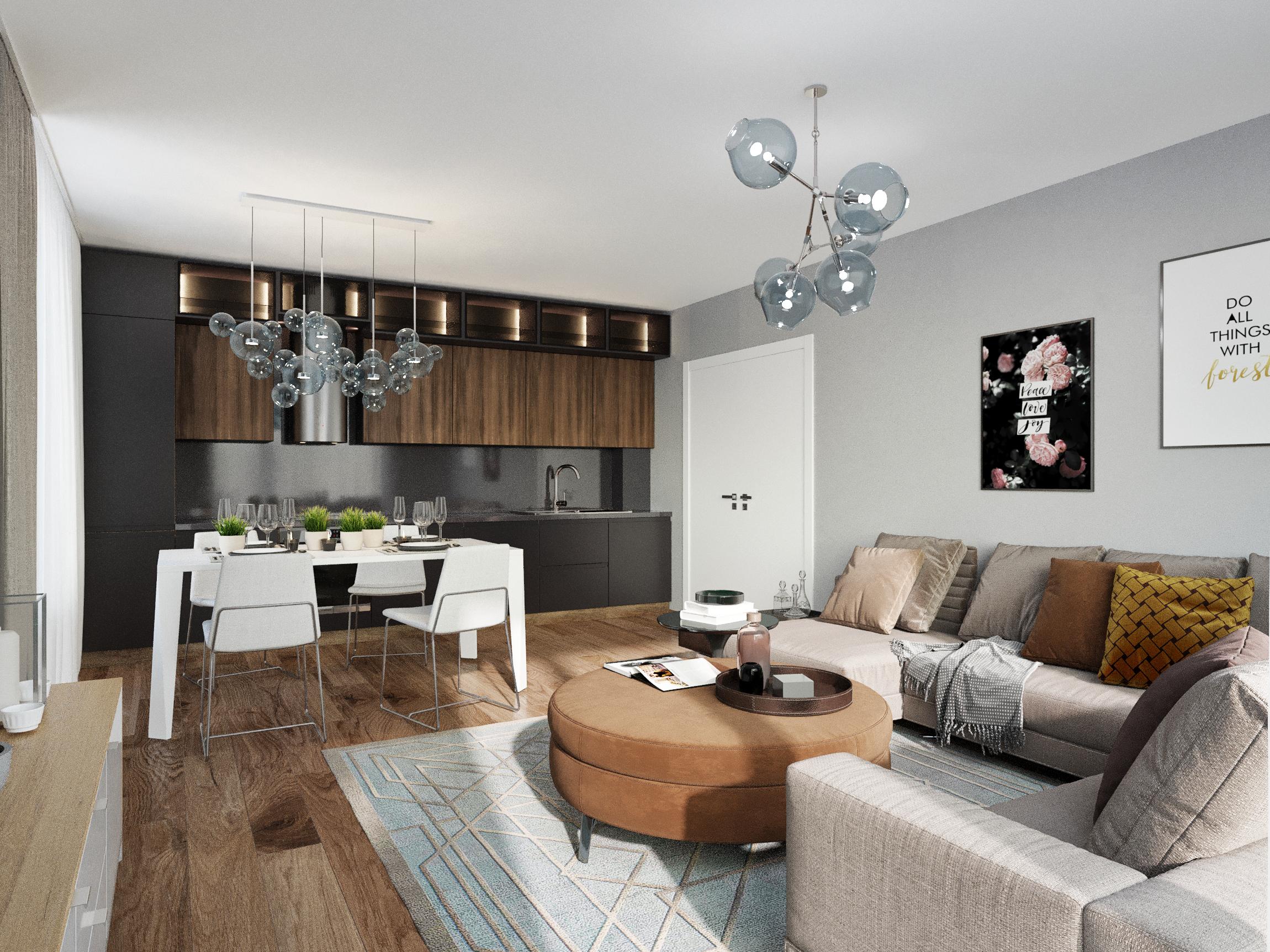 LivingRoom - Apartament 3 camere - Boreal Plus Constanța
