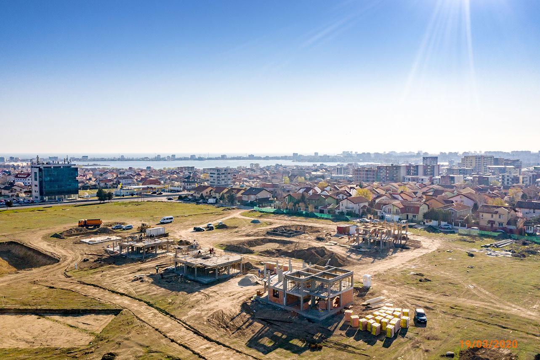 Stadiu construcție - Martie- Vile Boreal Plus