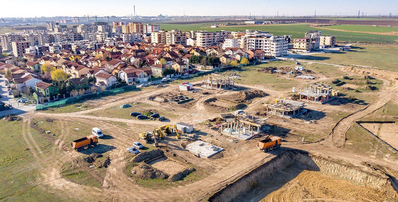 Stadiu construcție Vile - Martie 2020